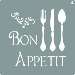 Pochoir Bon appétit de La Pajarita