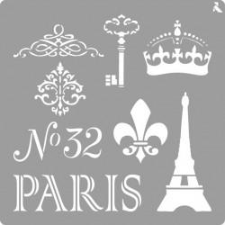 Pochoir Paris de La Pajarita