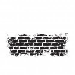 """Tampon transparent """"texture brick wall"""" de Kaisercraft"""