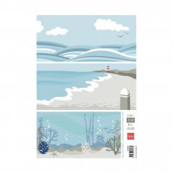 """Papier à découper """"Eline's backgrounds ocean"""" de Marianne Design"""
