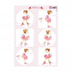 """Papier à découper """"ballerina"""" de Marianne Design"""