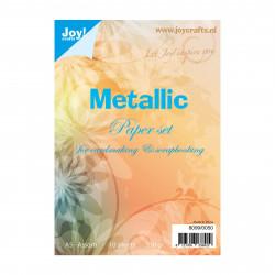 """Set de 10 feuilles A5 """"métallic"""" de Joy!Crafts"""