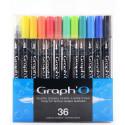 36 Feutres Pinceaux Graph'O de Graph'It