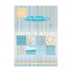 """Set de 32 feuilles de papier scrapbooking 21x15 cm  """"Cote d'Azur"""" de Marianne Design"""