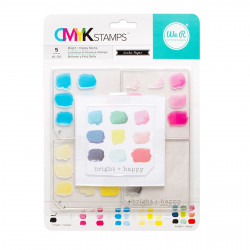 """Kit tampons transparents CMYK """"Bright and Happy"""" de We R memory keepers"""