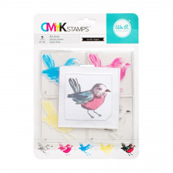"""Kit tampons transparents CMYK """"bird"""" de We R memory keepers"""
