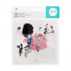 "Kit tampons transparents CMYK ""Rose"" de We R memory keepers"