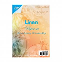 """Set de 10 feuilles A5 """"lin"""" de Joy!Crafts"""