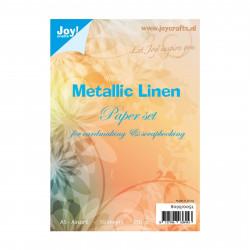 """Set de 10 feuilles A5 """"Metallic lin"""" de Joy!Crafts"""