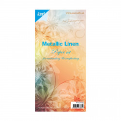 "Set de 10 feuilles ""métallic lin"" de Joy!Crafts (15x30 cm)"