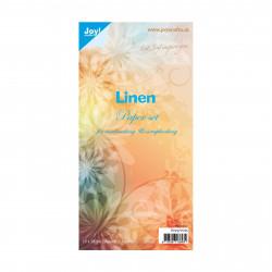 "Set de 10 feuilles ""lin"" de Joy!Crafts (15x30 cm)"