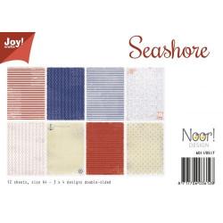 "Set de 12 feuilles photo recto-verso A4 ""Seashore"" de Joy!Crafts"