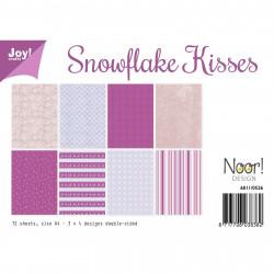 """Set de 12 feuilles photo recto-verso A4 """"snowflake kisses"""" de Joy!Crafts"""