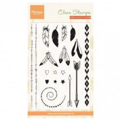 """Set de tampons transparents """"feathers"""" de Marianne Design"""