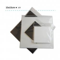 Bloc de papier scrapbooking florence carton 15x15 cm (24 feuilles) blanches de Vaessen Creative