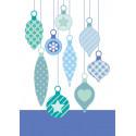 """Set de tampons transparents """"Boules de Noël"""" d'Artemio"""