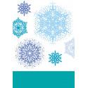 """Set de tampons transparents """"Flocons de Noël"""" d'Artemio"""