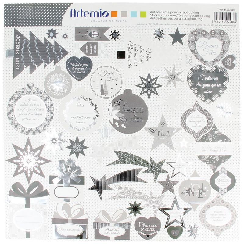 "Set de stickers ""Noël perlé"" d'Artemio"
