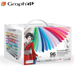 GRAPH'IT Brush & Extra fine Coffret de 96 marqueurs à alcool