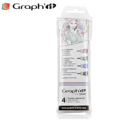 Pochette de 4 Fine liners couleurs de Graph'It