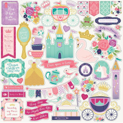 "Set Papier 30x30 ""Once Upon a Time Princess"" de Echo park paper"