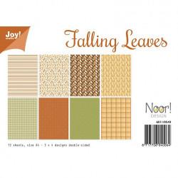 "Set de 12 feuilles photo recto-verso A4 ""feuilles"" de Joy!Crafts"