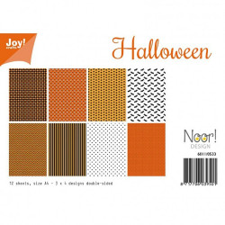 "Set de 12 feuilles photo recto-verso A4 ""halloween"" de Joy!Crafts"