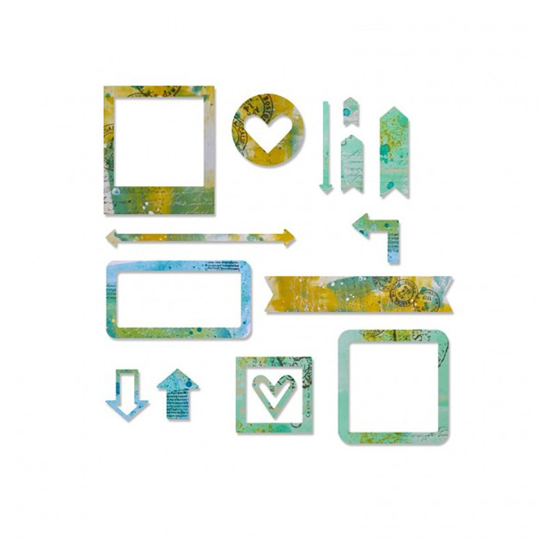 "Thinlits set die ""frames"" de Sizzix (15 pcs)"