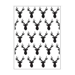Plaque d'embossage deer heads de Darice