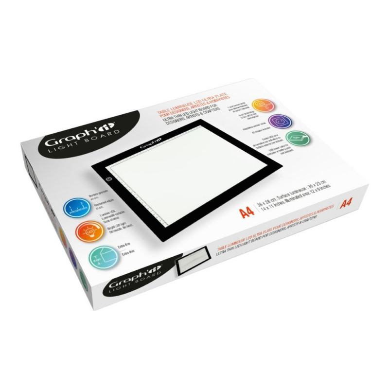 Tablette lumineuse A4 (23x30cm) de Graph'it