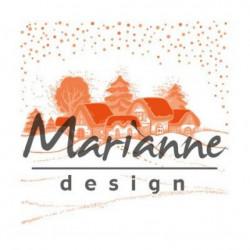 "Plaque d'embossage ""folder wintervillage"" de Marianne Design"