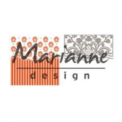 "Die et plaque d'embossage ""folder de luxe Anja's ornamental"" de Marianne Design"