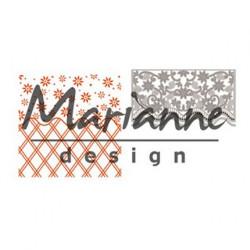 "Die et plaque d'embossage ""folder de luxe Anja's flower"" de Marianne Design"