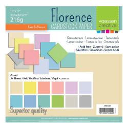 Bloc de papier scrapbooking couleur pastel florence carton 30.5x30.5cm (24 feuilles) de Vaessen Creative