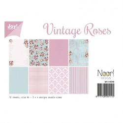 "Set de 12 feuilles recto verso A4 ""vintage rose"" de Joy!Crafts"