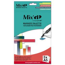 Palette de mélange pour marqueur à alcool Mix'it (paquet de 3 FORMAT A5)