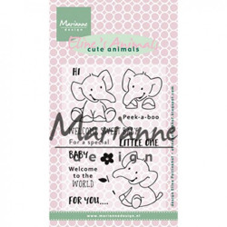 "Set de tampons transparents ""Eline's clear stamps elephant"" de Marianne Design"