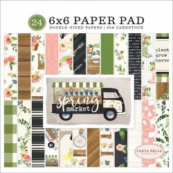 "Set Papier 15x15 ""Spring Market"" de Carta Bella"
