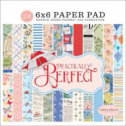 "Set Papier 15x15 ""Practically Perfect"" de Carta Bella"