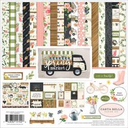 "Set Papier 30x30 ""Spring Market"" de Carta Bella"