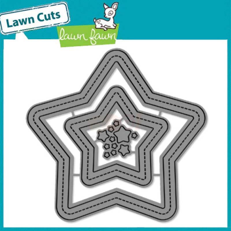 "Die ""Stitched Star Frames"" de Lawn Fawn"