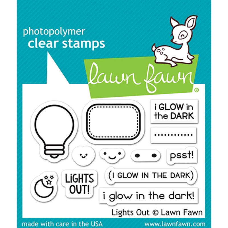 "Set de tampons transparents ""Lights Out"" de Lawn Fawn"