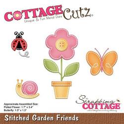 Die Cottage Cutz Stitched Garden Friends de Scrapping Cottage