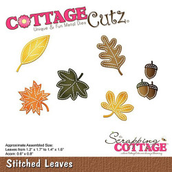 Die Cottage Cutz'Stitched Leaves de Scrapping Cottage