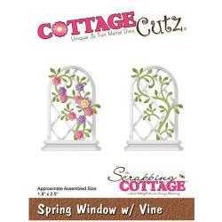 Die Cottage Cutz' Spring Window with Vine Cottage