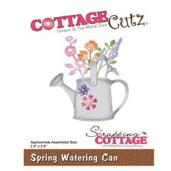 Die Cottage Cutz Spring Watering Can de Scrapping Cottage