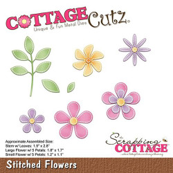 Die Cottage Cutz Stitched Flowers de Scrapping Cottage