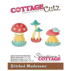 Die Cottage Cutz Stitched Mushrooms de Scrapping Cottage