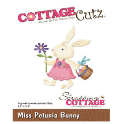 Die Cottage Cutz Miss Petunia Bunny de Scrapping Cottage
