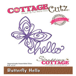 Die Cottage Cutz Butterfly Hello de Scrapping Cottage
